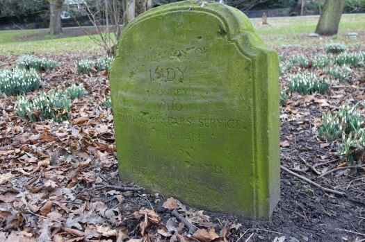 All clustered around the headstone of a donkey who worked here in the park many years ago.