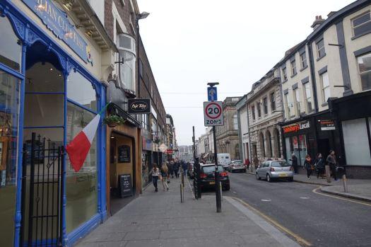 Down Bold Street.