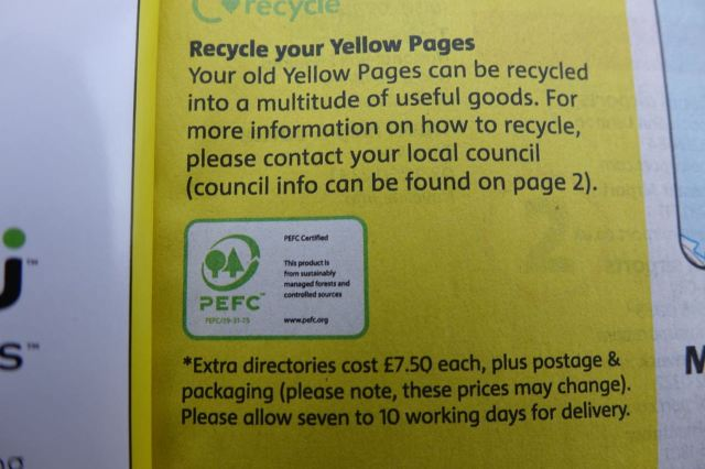 And they do carry information about recycling.