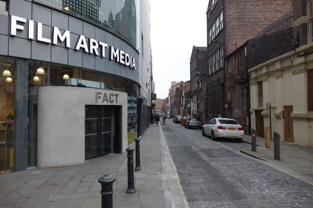Past FACT, looking along Wood Street.