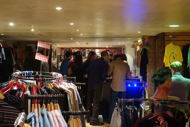 Looks like Soho's vintage rock'n'roll clothes shop. But half the basement is Dig Vinyl.