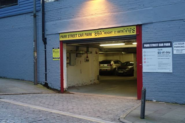 Past the car park on Parr Street that was LHT's in the 1980s.
