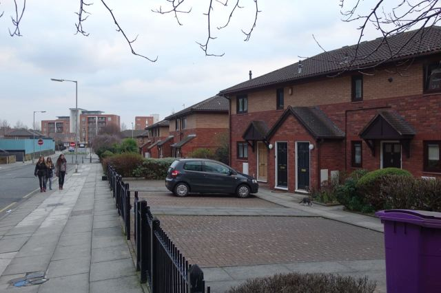 Suburban houses in the city centre.