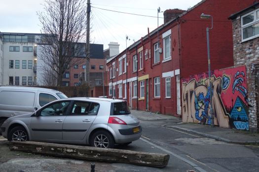 The little surviving terrace of Bailey Street.