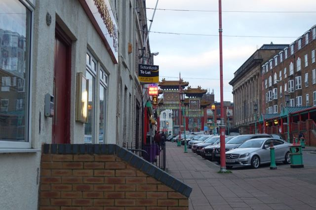 And round the corner into Chinatown.