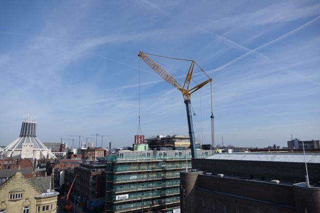 And here's our view of Bluey from the Hope Street Hotel roof.