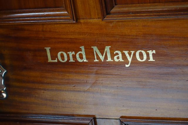We also took tea with the Lord Mayor.