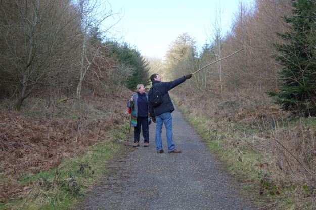We begin walking up a steep woodland path.