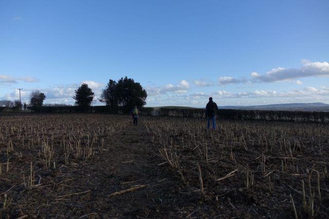 Across fields of stubble and many many stiles.