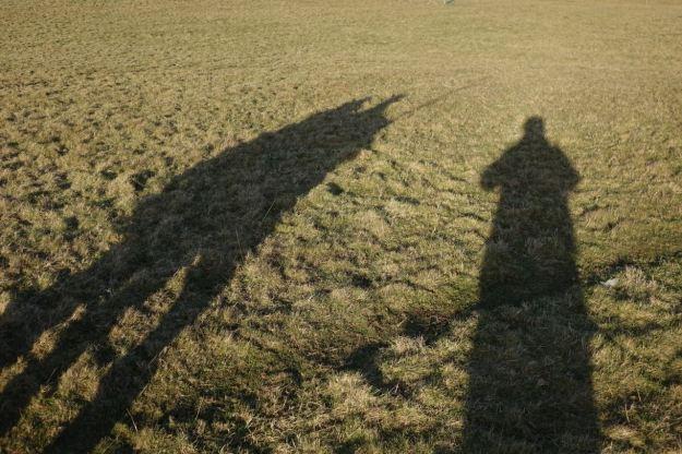 Three friend, one walk.