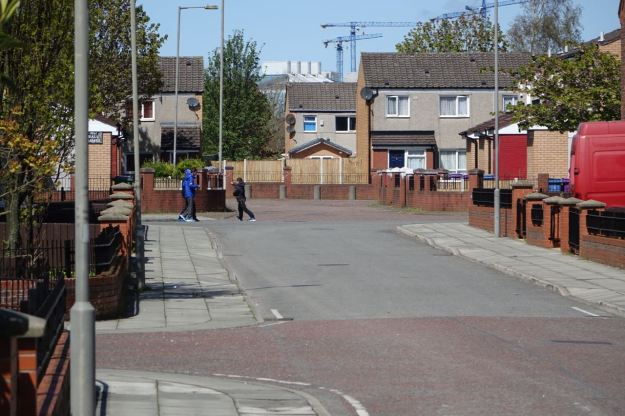 The rest of Granby divided into small, mostly cul de sac estates, with bollards.