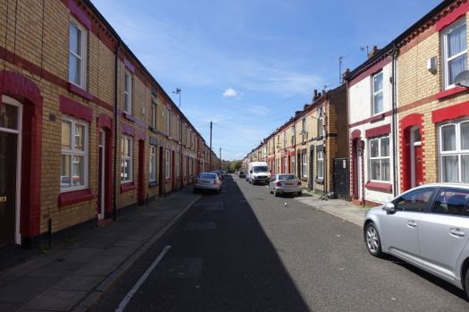 Along pleasant, terraced Ritson Street, on our way to Granby.