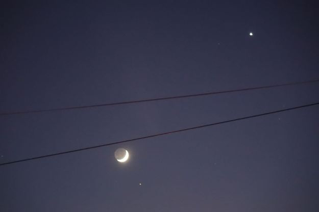 The Moon, Aldebaran and Venus.