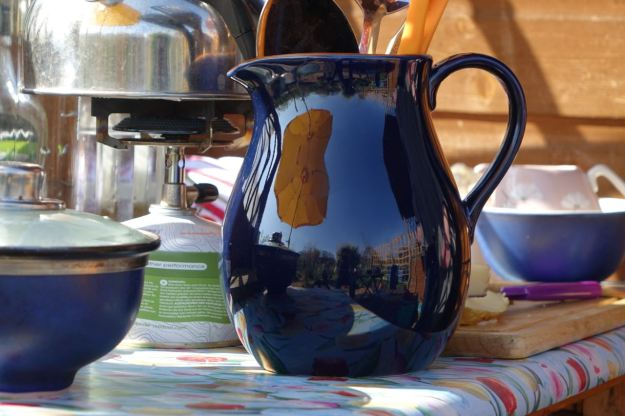 Meanwhile on her allotment, Sarah's got a shiny new jug.