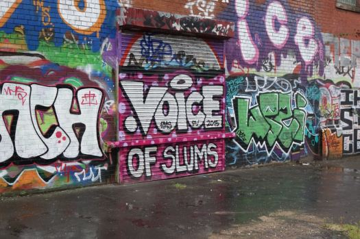 I'd thought I was just photographing the splendid graffiti.