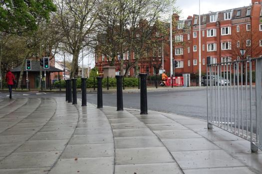 Nearly at Granby now where, as we know, the bollarding of Liverpool truly got going. and here are some new bollards.