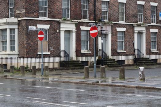Across in Percy Street, the Canning Area was bollarded to stop kerb crawling after it had moved here from Granby in the early 1970s.