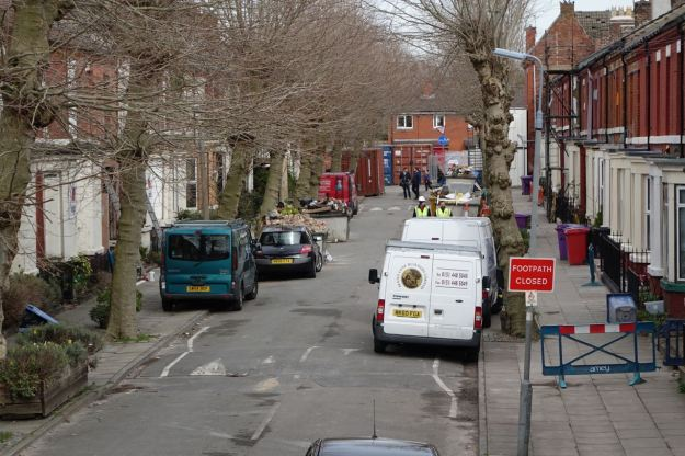 Here's Cairns Street, where the Market would usually be.