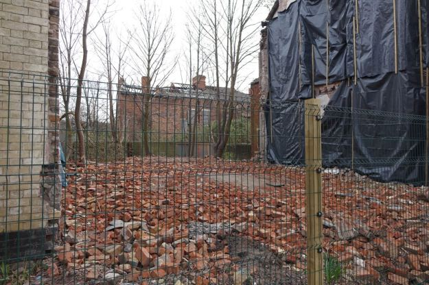 This small field of bricks may yet be a community garden, part of the continuing greening of Granby.