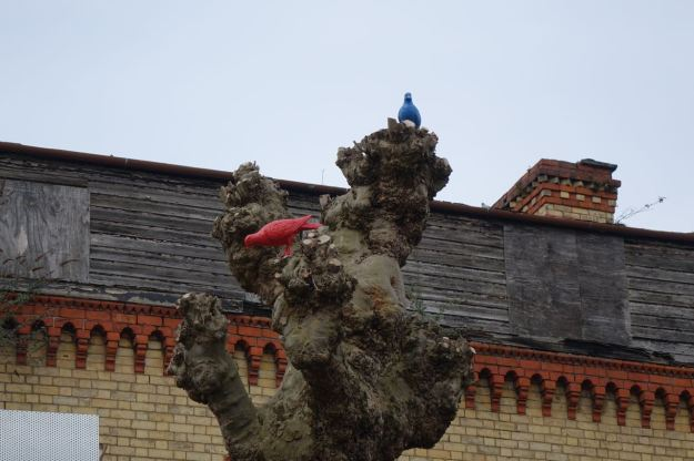 Watched over by those Biennial Pigeons.