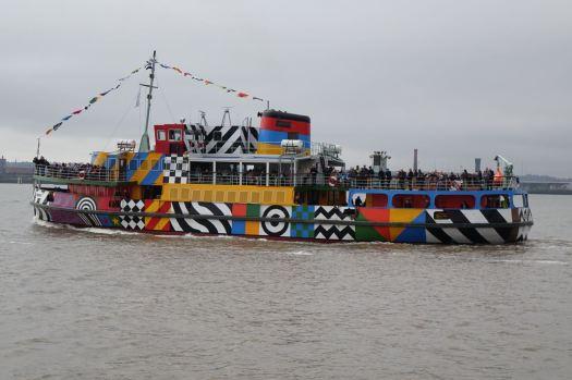 A psychedelic Dazzle Ship.