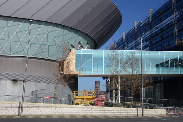 Clear inland through the new Exhibition Centre.