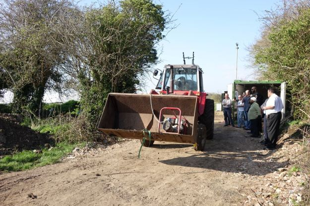To drive everything round to those new polytunnels.