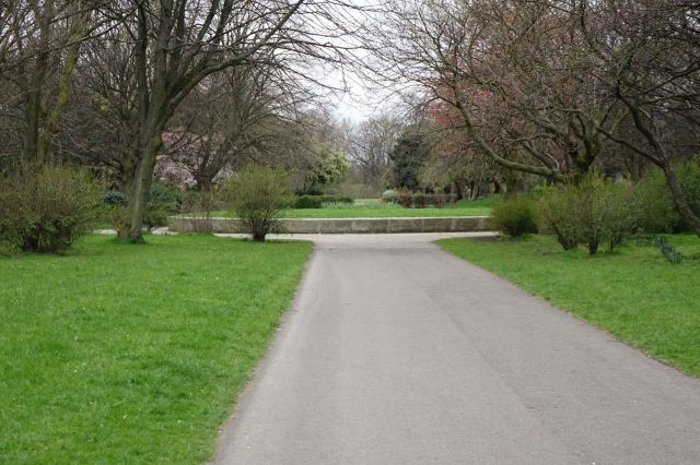 Here in the park are many long paths, it's a big place.
