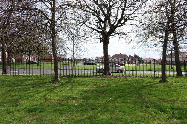 Where the park faces Walton Park Avenue.