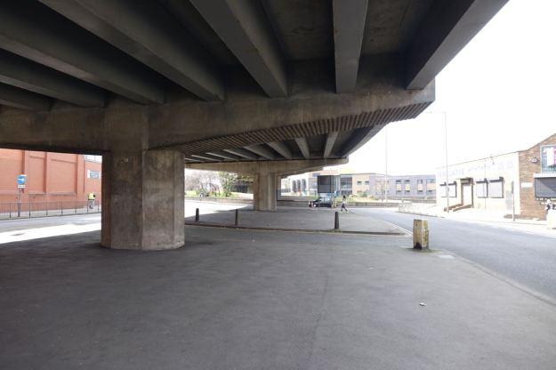 Underneath Queen's Drive.