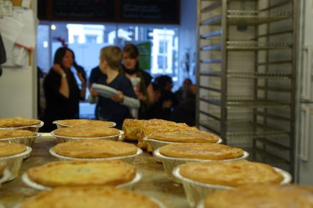 And for our supper there are pies. Of course there are pies. This is Homebaked.