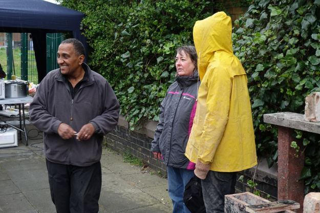 But soon the rain sets in for good, even on market organisers Joe and Theresa who'd hoped for better.