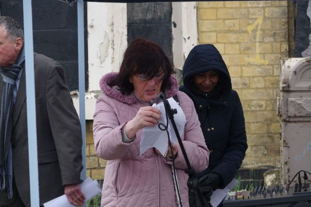 A great privilege to hear Maria reading her poem for her departed friend. 'Daylight come and I wanna go home.'
