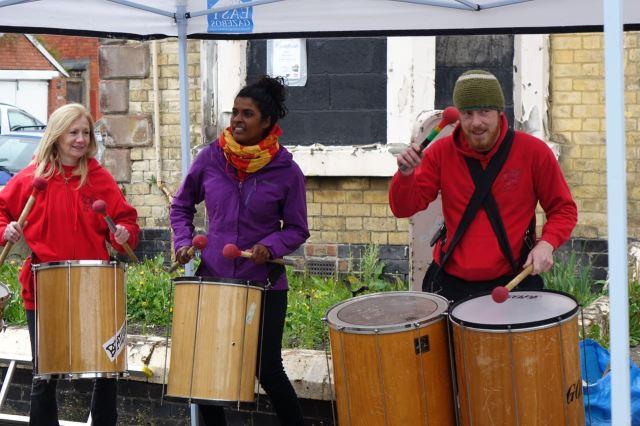 Beatlife get the drumming going.