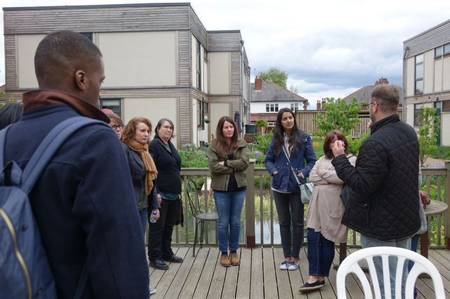 And describes the process of how they all turned the site of a demolished school into what we're seeing today.