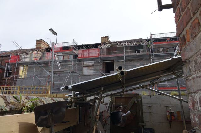 Meanwhile behind the Jermyn Street scaffolding?