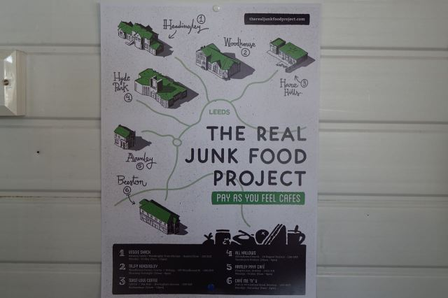 This map of them in Leeds alone is already out of date. The 8th local Junk Food Café is now open.