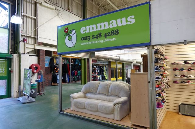 Emmaus in Kirkgate Market.