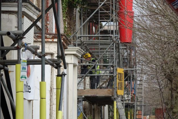 The CLT houses go on site.