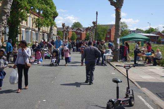 And the market's well underway as I arrive about 11 o'clock.