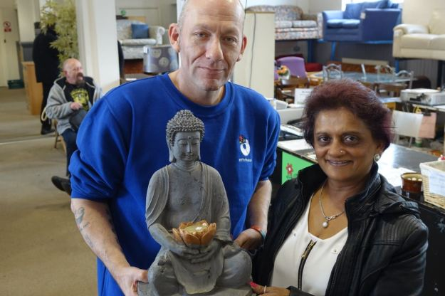 Raksha and her new Buddha!