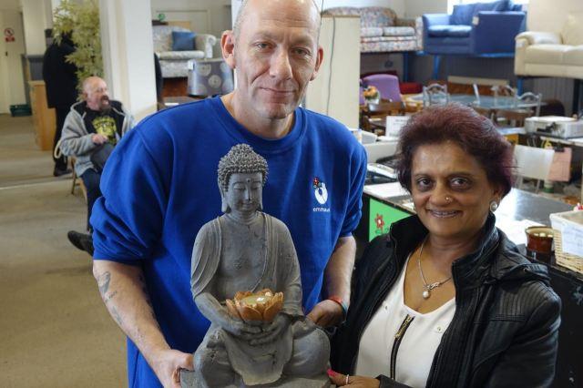 Raksha and her new Buddha!