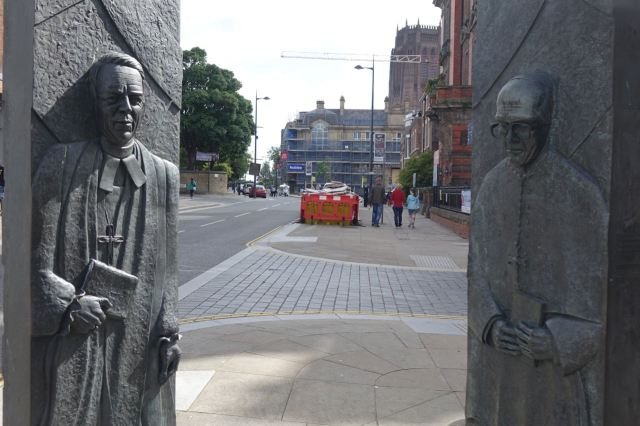 Along Hope Street past the two bishops.