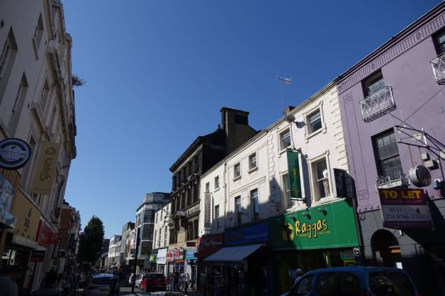 I walk on down sunny Bold Street.