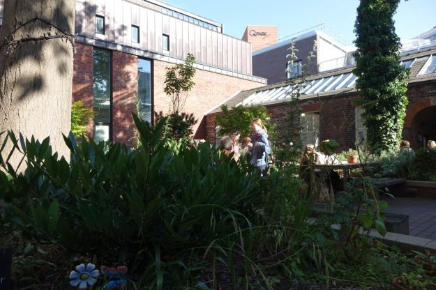 In the garden at the Bluecoat. A precious and free oasis in the city centre.