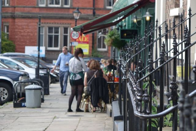 The Quarter busy as always further along the road.