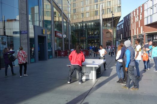 Table Tennis in Liverpool One.