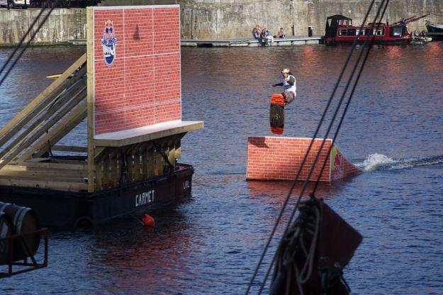 Some sort of sport going on inside the Albert Dock.