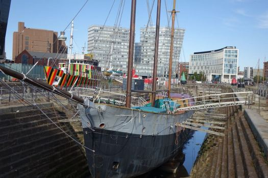 In the graving dock.