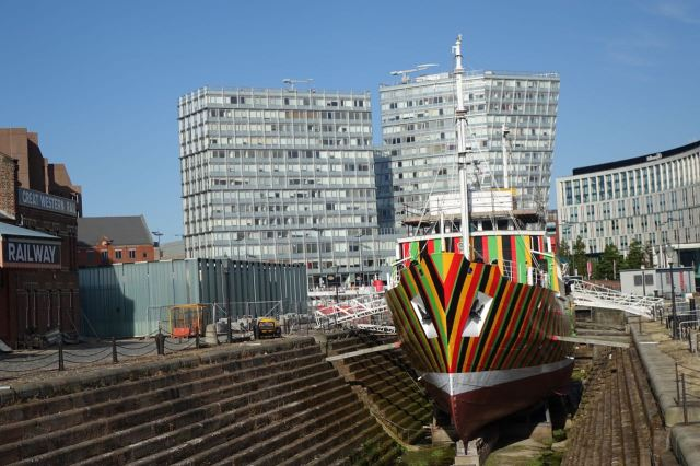 By the Dazzle Ship.